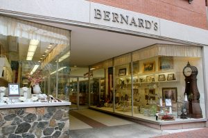 Bernard's Jewelers on Essex Street is an example of the many family-owned Franco-American businesses that were established in the early 20th century and thrived in the central business district.