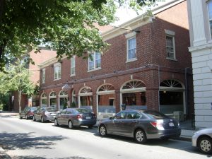 The lyceum building was converted into a restaurant in the 1970's as Franco-Americans led the downtown redevelopment and preservation movement.
