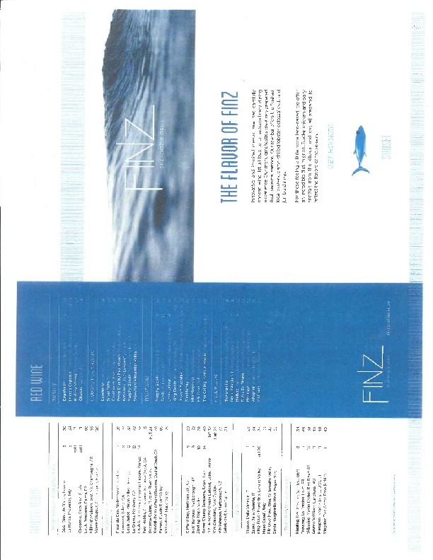 Finz Seafood and Grill Menu