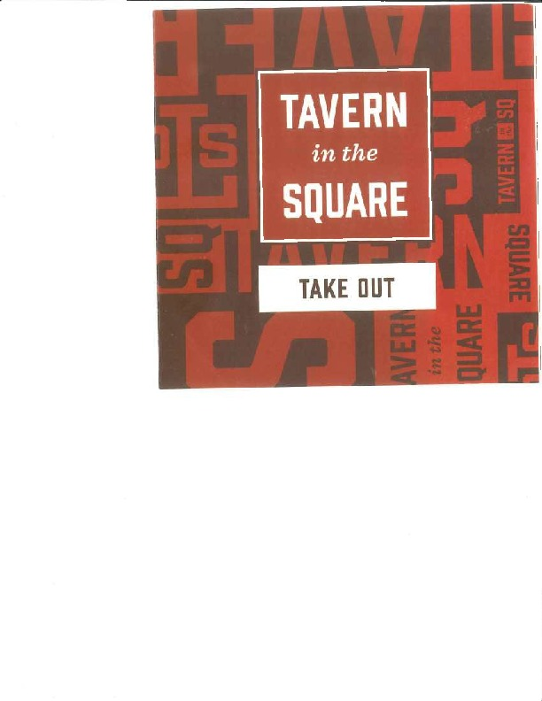 Tavern in the Square Salem Menu