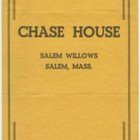 Chase House menu